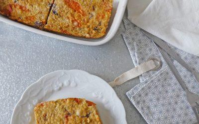 Gâteau quino/riz aux olives noires, potimarron et pecorino  (Sans gluten )