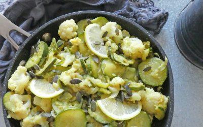 Poêlée de légumes aux épices   ( Léger, vegan, sans céréales )