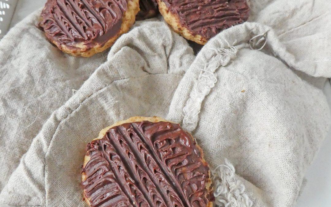 Biscuits nappés au chocolat  ( Vegan )