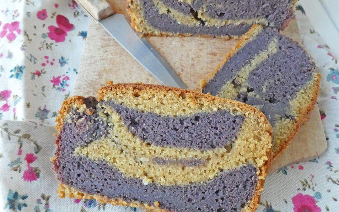 Gâteau marbré aux myrtilles (Vegan, sans gluten )