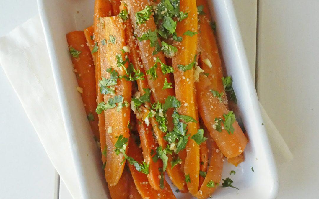 Salade de carottes cuites à la coriandre et gomasio