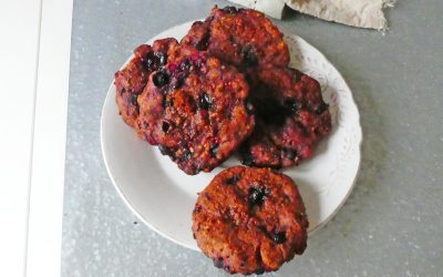 Cookies fruits rouges  ( Vegan, index glycémique bas )