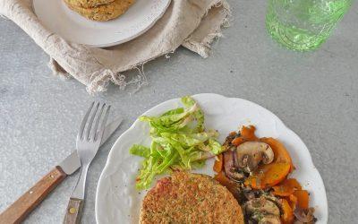 Galettes végétales aux pois chiche et tofu fumé ( Vegan, sans gluten )