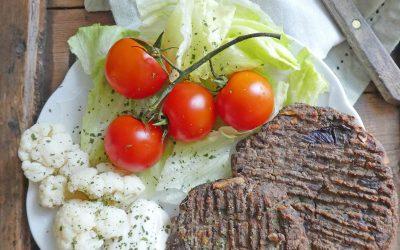 Steak de soja aux champignons ( Riche en protéines, sans céréales, vegan )