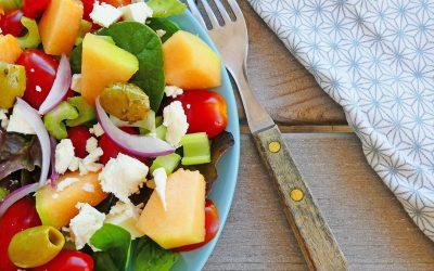 Salade d'été au melon et féta ( Sans céréales, léger )