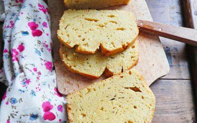 Gâteau vanille, citron, aux yaourts de soja ( Sans gluten, allégé en sucre )