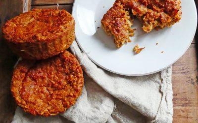 Moelleux aux carottes, panais et noisettes ( Option vegan, sans gluten ou sans céréales, et sans soja )