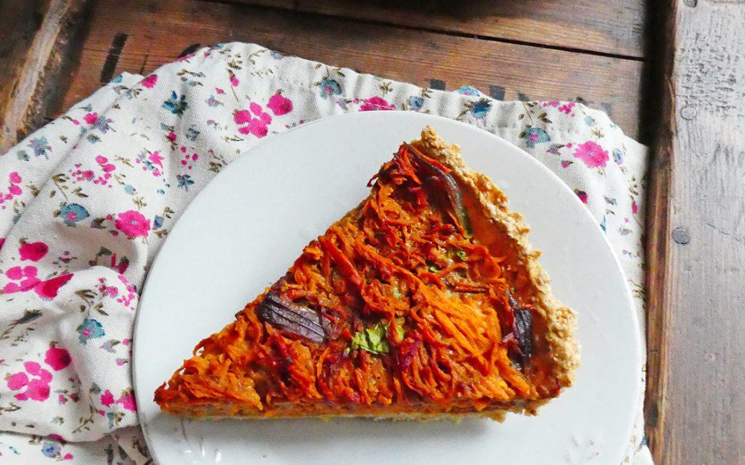 Tarte aux flocons d'avoine et carottes râpées