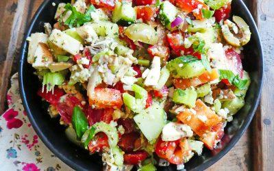 Salade croquante de printemps ( Végétarienne ou vegan )