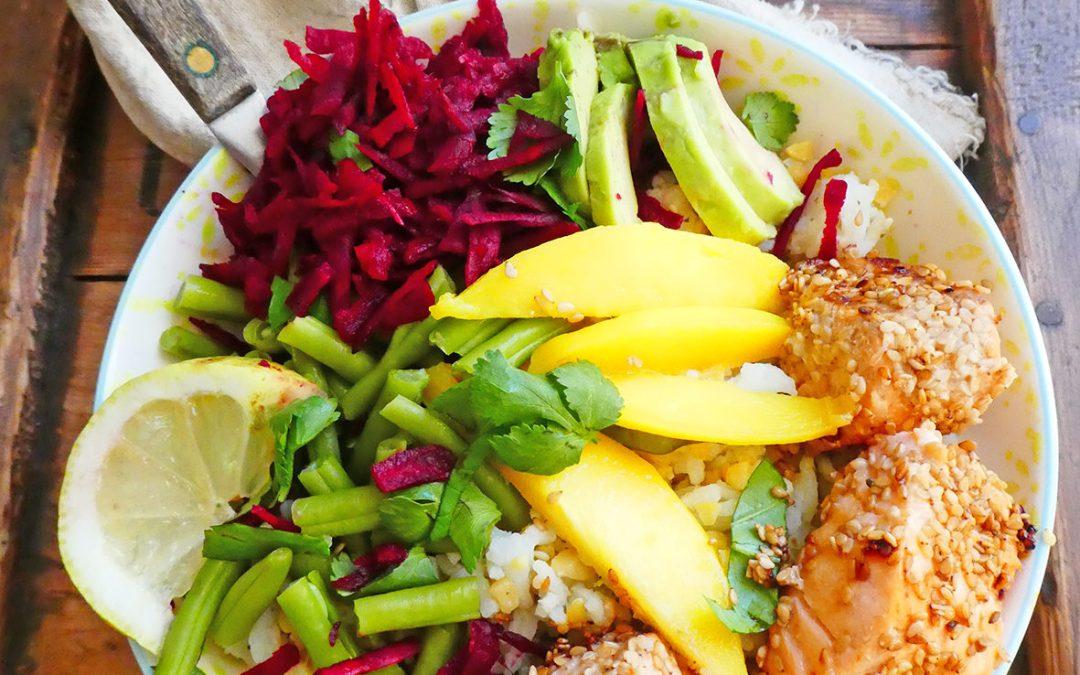 Bouddha bowl au saumon cuit