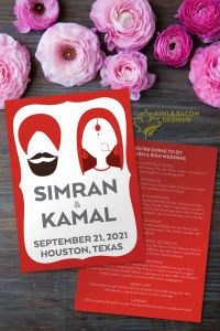 Sikh Wedding Program - Silhouette - Editable DIY