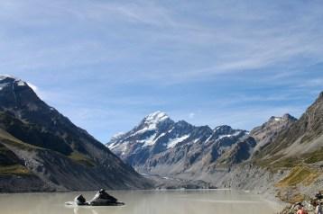 the glacial lake - Muellers Lake I think?