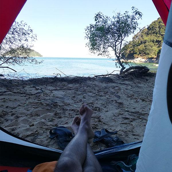 camping abel tasman