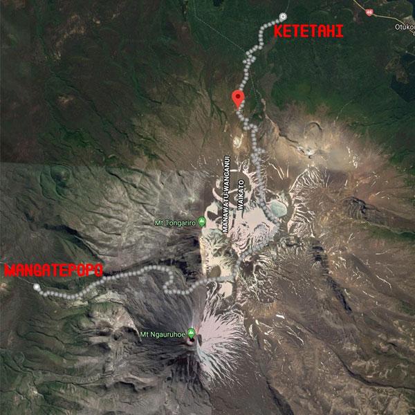 mapa tongariro