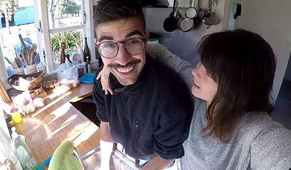 pareja happy