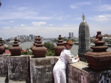 View from the top of a temple of Bangkok