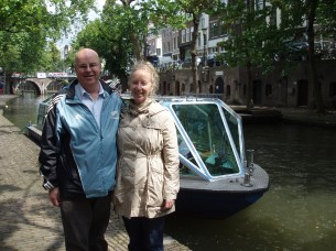 Going on a canal boat ride in Utrecht