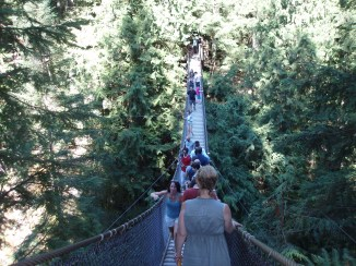 The free Lynn Canyon Suspension bridge