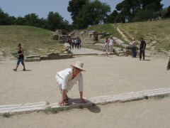 Ancient Olympia running track