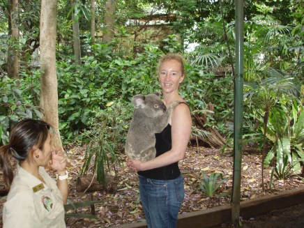 Debbie at Lone Pine Sanctuary were her new friend