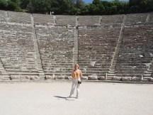 Debbie at Epidaurus