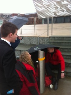 Titanic stuff supplied some umbrellas