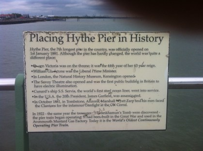 Hythe Pier and its history