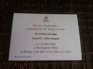 The invitation arrives