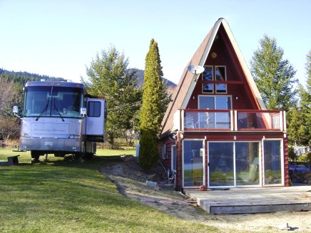The RV and cabin