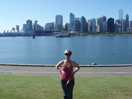 A lovely photo on our Stanley Park cycle ride