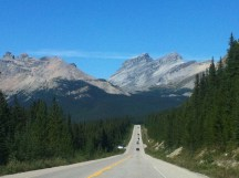 Road up to Columbia Icefield