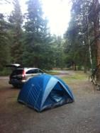 Our campsite in Jasper