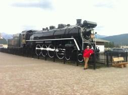 Old steam train in Jasper