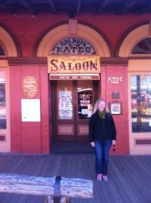 Outside Big Nose Kates saloon