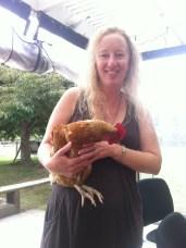 Debbie the chicken whisperer