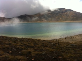Not so Blue Lake Crater