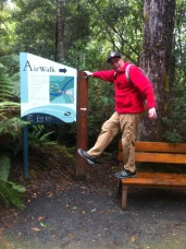 Being silly at the Tahuna Air walk