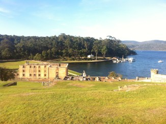 A view of Port Arthur and the bay