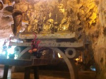 Great cave and statues