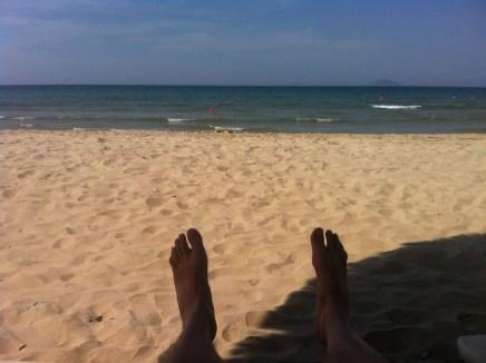 Relaxingon the beach
