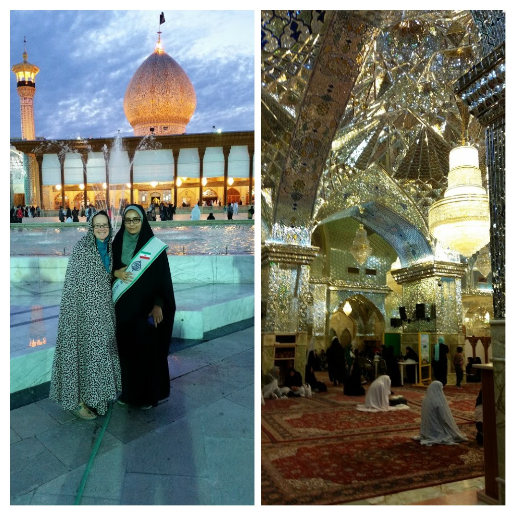 (L)With my guide. (R) Women praying in the shrine.