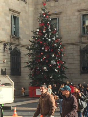 Barcelona Square Christmas tree