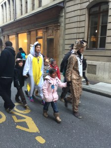 Fancy dress seemed the order of the day