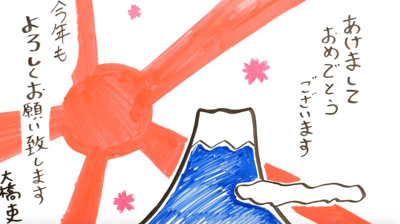 新年の挨拶に使えるホワイトボードアニメーション