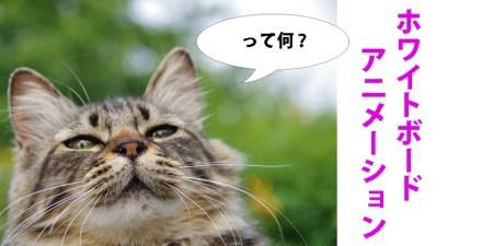 ホワイトボードアニメーションとは?を動画で説明!!