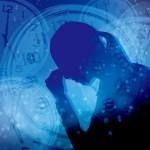 女性 悩む 時計 時間