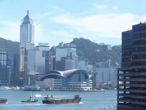 香港風景 九龍シャングリラからの眺め