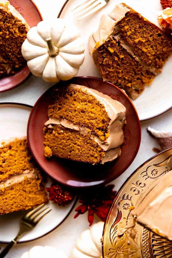 Pumpkin Cake with Milk Chocolate Cream Cheese Frosting - KJ & Company