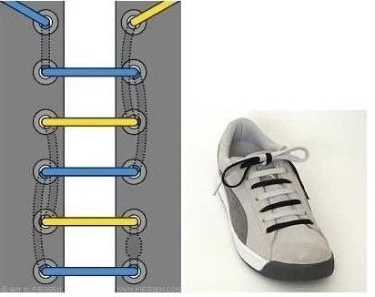 Snøre skolisser - 17 morsomme varianter på hvordan du kan knyte skolissene dine