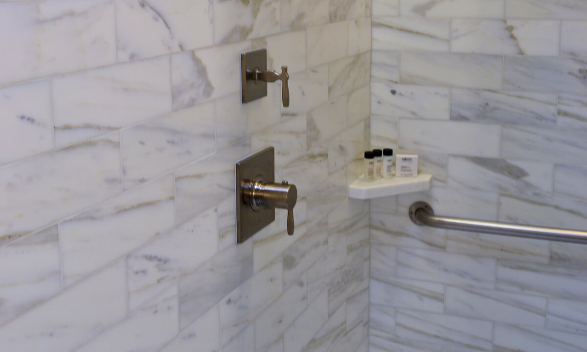 to seal marble tile in a shower